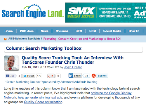 Search Engine Land Interview With Chris