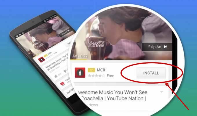 Youtube App Install Ad
