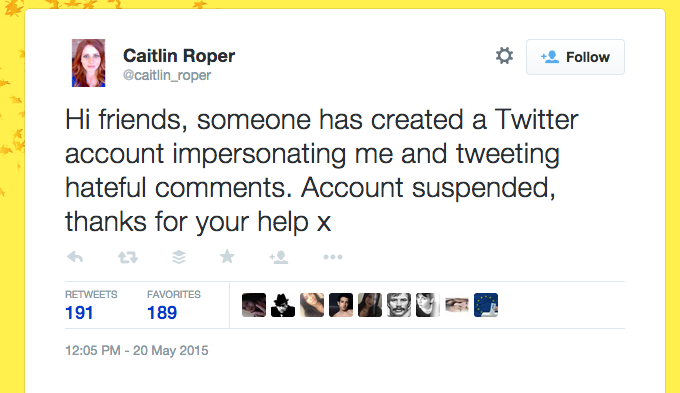 Abusive twitter ad response